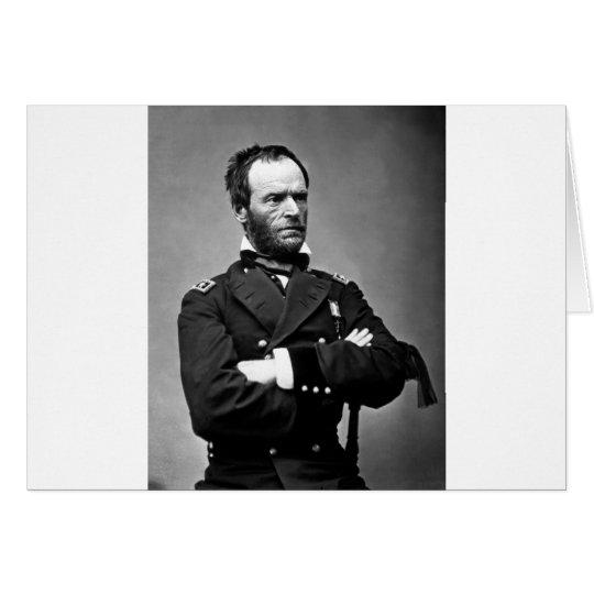 General William Tecumseh Sherman, 1865. Card