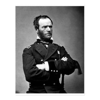 General William Tecumseh Sherman, 1865. Postcard