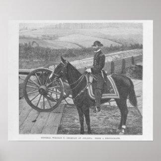 General William Tecumseh Sherman at Atlanta Poster