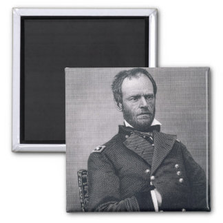 General William Tecumseh Sherman, engraved after a 2 Inch Square Magnet