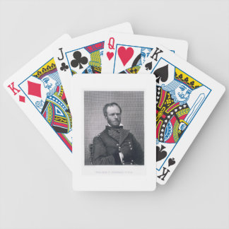 General William Tecumseh Sherman, engraved after a Bicycle Playing Cards
