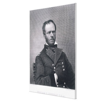 General William Tecumseh Sherman, engraved after a Canvas Print