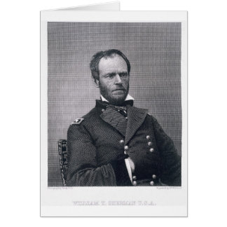 General William Tecumseh Sherman engraved after a Cards