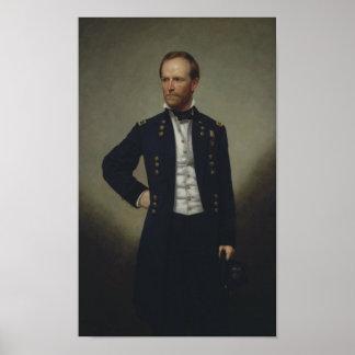 General William Tecumseh Sherman Painting Poster