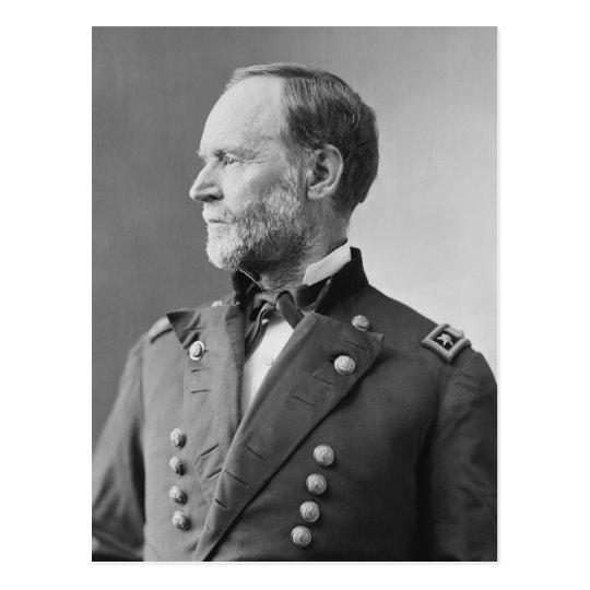 General William Tecumseh Sherman Postcard