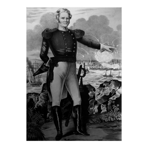 General Winfield Scott at the battle of Veracruz Poster
