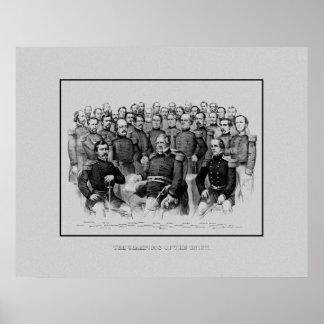 Generales de la guerra civil de la unión posters