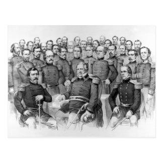 Generales de la guerra civil de las postales de la