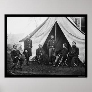 Generales del ejército del Potomac 1863 Poster
