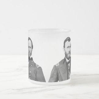 Generales Sherman y Grant Taza Cristal Mate