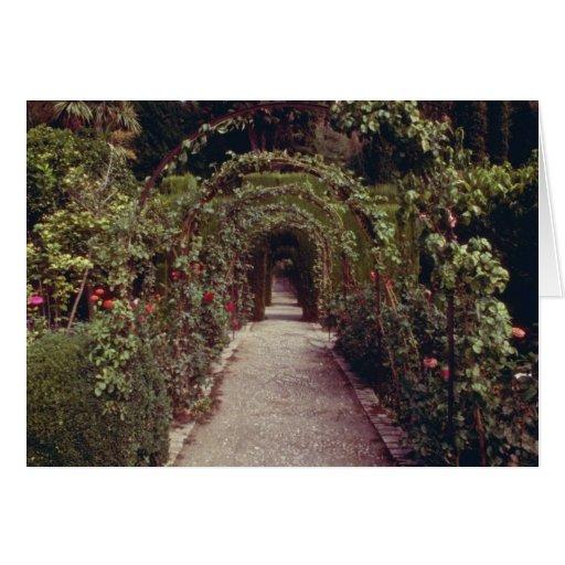 Generalife blanco, flo de Alhambra, Granada, Españ Felicitaciones