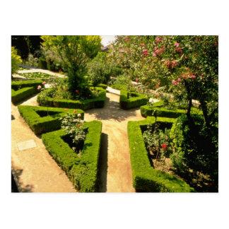 Generalife rosado cultiva un huerto, las flores de tarjetas postales