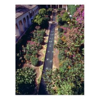 Generalife rosado, flujo de Alhambra, Granada, Tarjetas Postales
