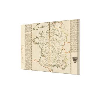 Generalities of France Canvas Print