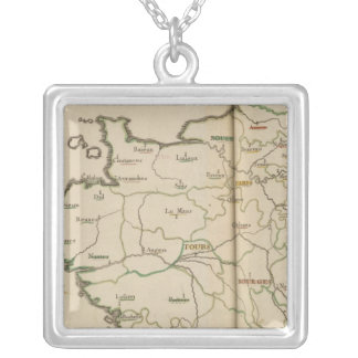 Generalities of France Square Pendant Necklace