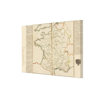 Generalities of France Stretched Canvas Print