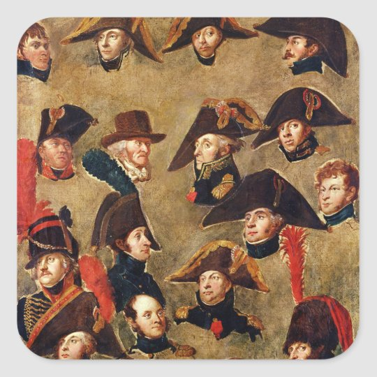 Generals of the Camp de Boulogne Square Sticker