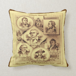 Generals of the War of Independence Throw Pillow