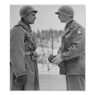 Generals Ridgway and Gavin - Battle of the Bulge Poster