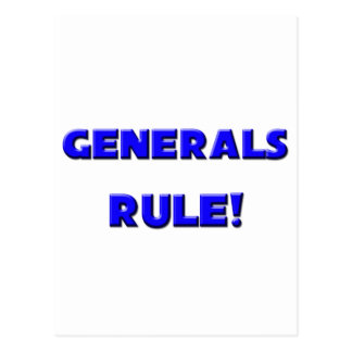 Generals Rule! Postcard