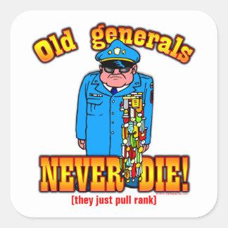 Generals Square Sticker