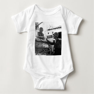 Generaly George S. Patton and Colonel Lyle Bernard Baby Bodysuit