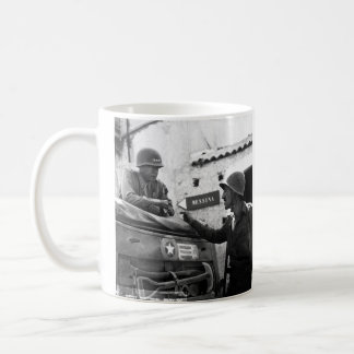Generaly George S. Patton and Colonel Lyle Bernard Coffee Mug