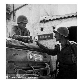 Generaly George S. Patton and Colonel Lyle Bernard Poster