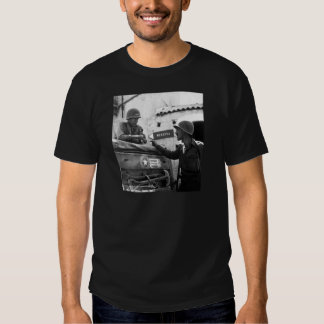 Generaly George S. Patton and Colonel Lyle Bernard T-Shirt