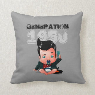 Generation 1950 throw pillows