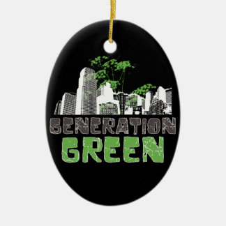 Generation Green Ceramic Ornament