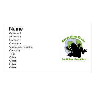 Generation Green T-shirts and Gifts Business Card Templates