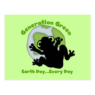 Generation Green T-shirts and Gifts Postcard