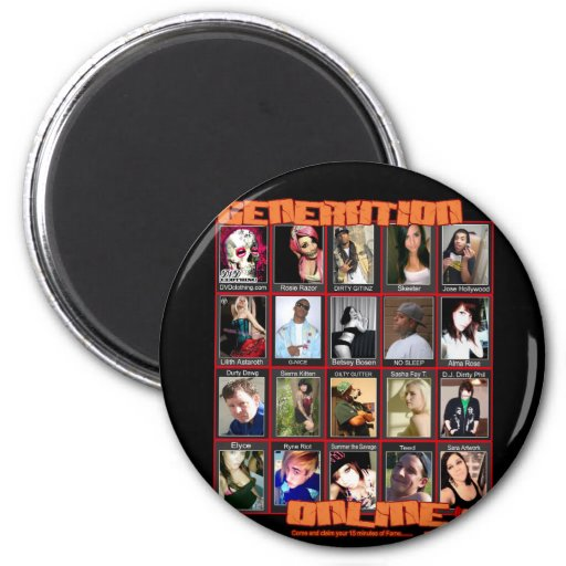 GENERATION ONLINE 1point2 Myspace friends collage Magnets