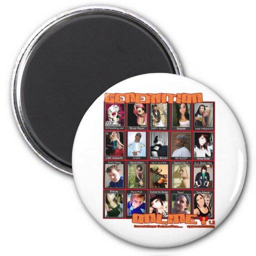 GENERATION ONLINE 1point2 Myspace friends collage Refrigerator Magnets