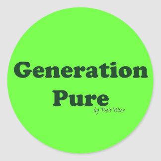 Generation Pure Classic Round Sticker