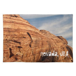 Generations in Red Rock; Nevada Souvenir Cloth Placemat