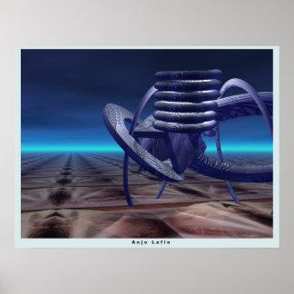 Generator 3D sci-fi scene by Anjo Lafin Poster