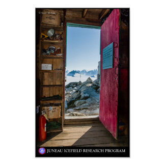 Generator Shed on the Juneau Icefield Poster