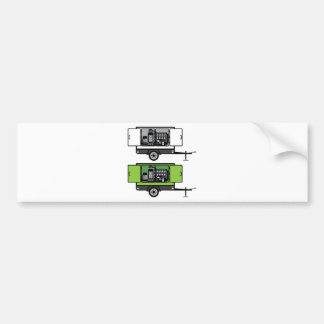 Generator trailer vector bumper sticker
