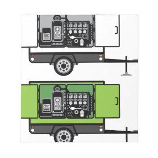 Generator trailer vector notepad