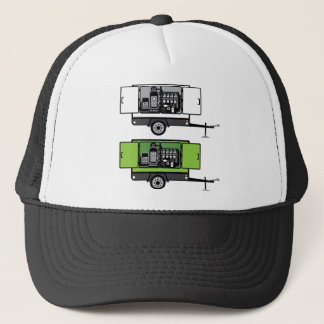 Generator trailer vector trucker hat