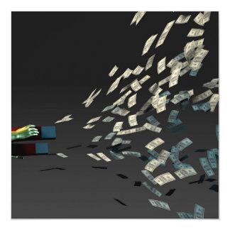"""Genere la riqueza y la renta como concepto del invitación 5.25"""" x 5.25"""""""