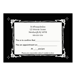 generic appointment 2 business card