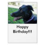 Hand shaped Generic birthday card