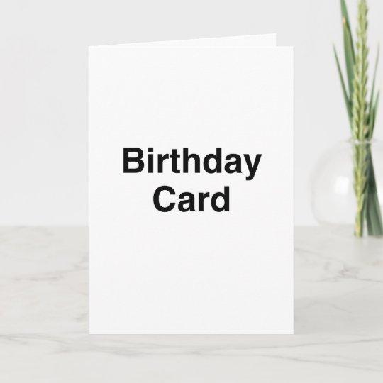 Generic Birthday Card Zazzle