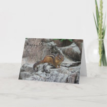 Generic Birthday Card Chipmunk