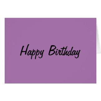 Generic Birthday Card Purple