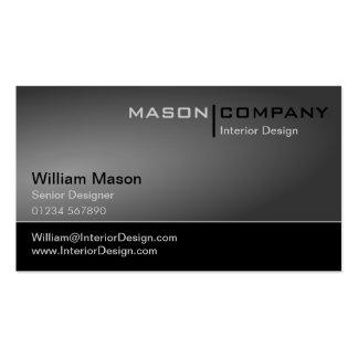 Generic Black & Gray Corporate Business Card