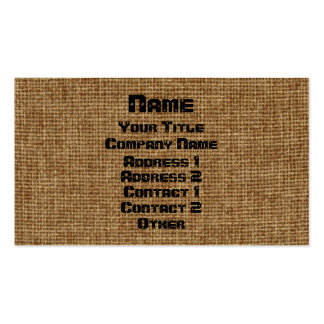 Generic Burlap Business Double-Sided Standard Business Cards (Pack Of 100)
